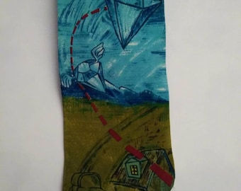 The Beatles Silk Necktie, Lucy in the Sky with Diamonds by the Beatles Released 1967. Gifts for Him.