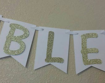 BLESSED Ethnic African American baby shower, gender reveal or Twins banner wall decor Royal Little Prince or Princess Gold Glitter