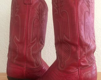 Vintage Dan Post Alligator Cowboy Boots