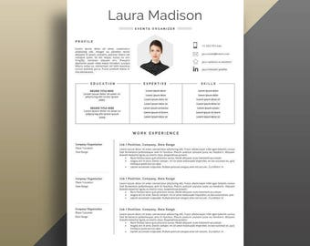 Resume Template, Professional Resume Template, Modern Resume Template, Creative Resume Template. Professional CV Template. Resume with Photo