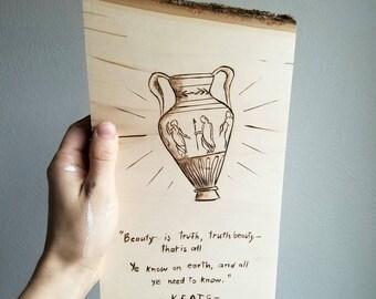Yeats Poem Wall Decor   Grecian Urn   Beauty is Truth