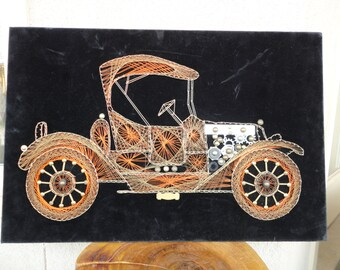 String Art Retro Car