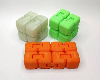 Infinity Fidget Cube] 3D Printed Fidget Cube] Fidget Spinner] Stress Toy] Hand Spinner] Infinity Cube