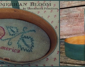 Primitive Cross Stitch Pattern - American Bloom