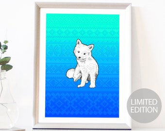 Polar Fox Limited Edition (/12) Signed & Numbered FIne Art Giclee Print