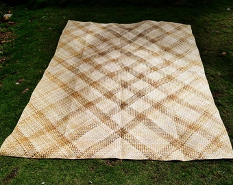 "Handwoven mat ""banig"" Philippines 6.8ft x 5ft - Eco Friendly"