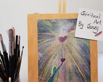 Cosmic Love A4 Watercolour Print