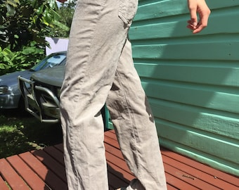 Tan Corduroy Flared Pants