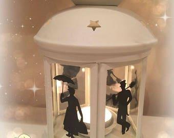 Mary Poppins Inspired Lantern, Tea light Holder,  Lantern, Candle Glow Gift set