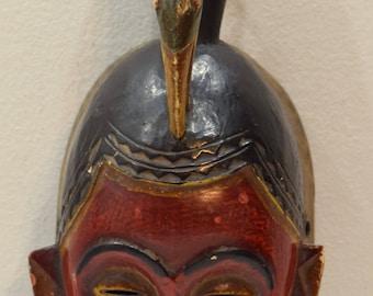 African Mask Baule Mali Wood Portrait African Wood Mask