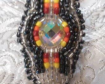 Beautiful beaded gem ring