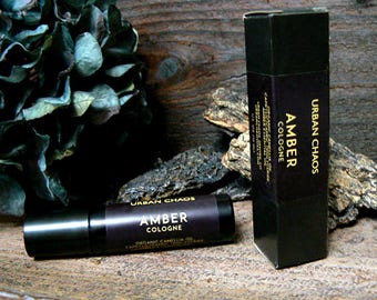 Amber Oil - Amber Roll On Perfume Oil, Aromatherapy Oil, Amber Essential Oil, Natural Cologne Oil for Women, Gift for Mom - Perfume Free