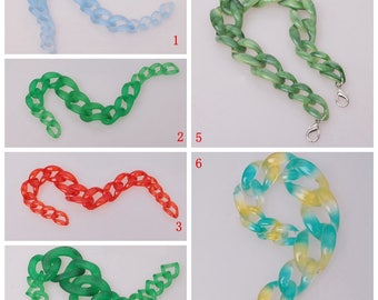 50cm Long / Oval Acrylic Chain / Plastic Chain / Clear Chain / Hand Bag Chain