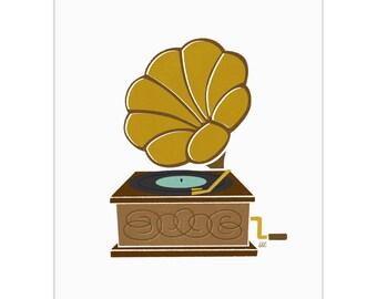 Record Player - Phonograph Art Print