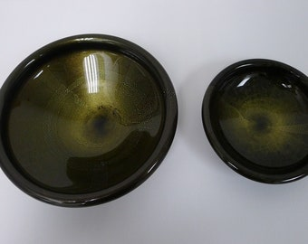Pair of Murano Glass Bowls by Luca Bojola 1980s