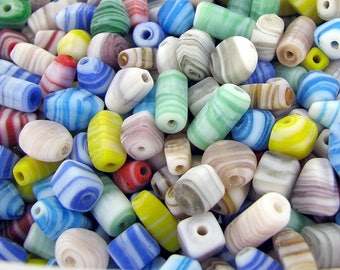 Indian Glass Beads/ Mixed Colors Swirl / 0.5KG (1.1lb+-) per Bag