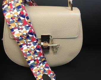 Guitar Strap / Multicolored Guitar Strap / Purse Strap /  Removable Handbag Strap / Festival Fashion / Interchangeable Purse Strap