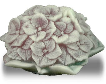 Spring Hydrangea Bouqet Flower Soap Sculpture with Glycerin, Aloe and Vitamin E