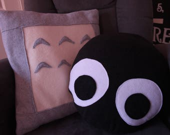 Totoro and Soot Sprite Pillow Slip Cover Set