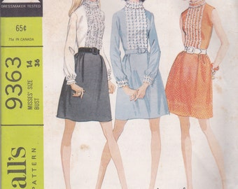 Sweet 60s Dress Pattern McCalls 9363 Size 14
