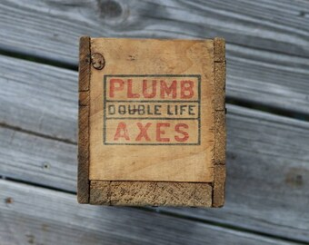 Plumb Axe box wooden