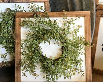 Baby grass wreath sign, country sign, farmhouse wreath sign