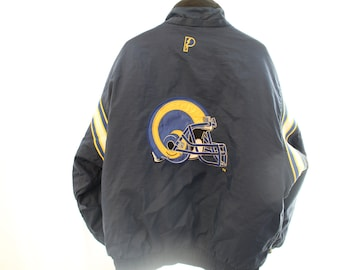 Vintage 90s Embroidered Reversible Pro Player St. Louis Rams Puffer Jacket - XL (as is)