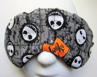 Herbal Hot/Cold Therapy Child Size Sleep Mask with adjustable and removable strap Nightmare Before Christmas Jack