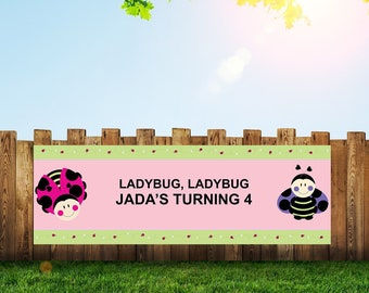 Ladybug Banner,Ladybug Birthday,Ladybug Party,Ladybug,Birthday Banner