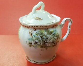 Old Ivory Mustard Pot