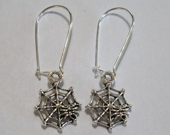 Cute Halloween Spiderweb Earrings
