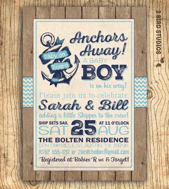 Ahoy Itu0027s A Boy Baby Shower Invitation Nautical Baby