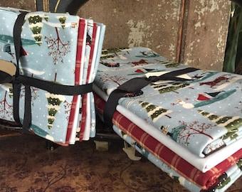 Fabric: Bundles - A Skater's Village- blue cotton
