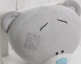 DMC (15284L/2) Tiny Tatty Teddy Amigurumi Crochet Pattern - Cuddly Cushion Cover