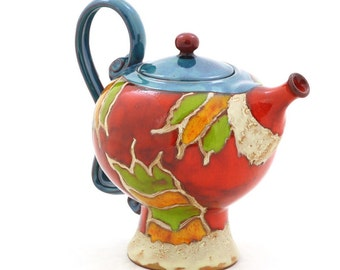 Ceramic Teapot, Pottery Teapot, Stoneware pottery, Art Pottery, Unique  teapot, Tea and Coffee pot, Handmade ceramics