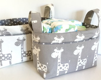 Nappy caddy / Change table organiser / Fabric basket / Nursery storage