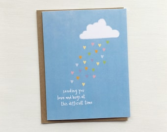 Sympathy card • Sending Love and Hugs card • Empathy card •  Loss • Grief • Illness • Death • Sadness • Pet Death • Pet Loss Sympathy card