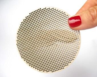 "Cross Stitch Shape, 3.5"" - 87,5 mm, Circle, Disk, Cross Stitch Blank, Plywood Blank, DIY, Needlepoint Blank, Laser Cut"