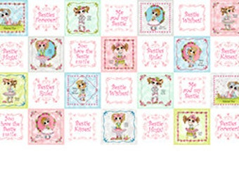 Besties Forever from Quilting Treasures - Besties Patch Whimsical Little Girls on White