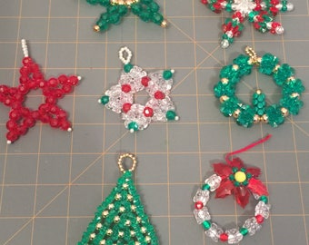 Vintage handmade christmas tree ornaments