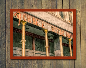 Chinese Restaurant - art photography, vintage, sign, download print