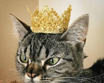 Game of Thrones Inspired Cat Crown - Dog Crown The White Queen - Princess Crown for Cat - Cat Puppy Crown - Cat King Crown -