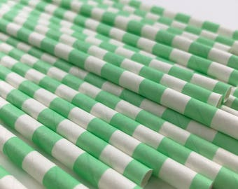 Mint Green Paper Straws, Mint Green Baby Shower Decorations, Mint Green Wedding, Cake Pop Sticks, Birthday Straws, Beverage Straws