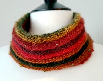 Crystal Cowl Knitting Kit - AUTUMN
