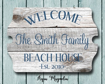 Custom House Sign - Personalized - Beach House Sign - Lake House Sign - Cottage - Farm House - Home Decor