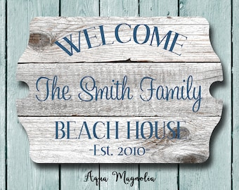 Custom House Sign   Personalized   Beach House Sign   Lake House Sign    Cottage