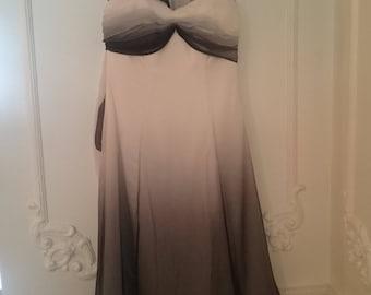 Black and White Grecian Dress