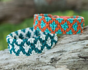 Hexo Paracord Dog Collar, Dog paracord Collar, Geometric collar, Multicolored Dog Collar, Colorful Dog Collar, With Quick Release Buckle