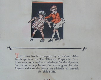 1928 WHEATENA Booklet Feeding The Child From Crib To College Menus Growth Charts