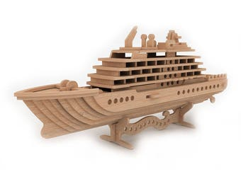 Cruise Ship 3D wooden puzzle/model